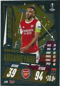 MATCH ATTAX EXTRA 2020/21 PIERRE-EMERICK AUBAMEYANG GOLD LIMITED EDITION LE2G