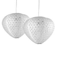 2 x MODERNO SOFFITTO LUCE CIONDOLO SHADE White Paper Lantern Acron disegno floreale