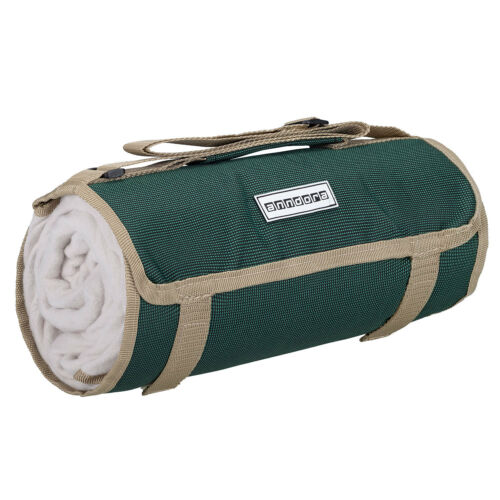 anndora Picknickdecke Stranddecke Fleecedecke 125x150 cm - grün beige