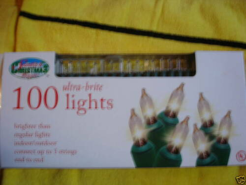 ULTRA BRITE 100 LIGHTS CLEAR BULBS