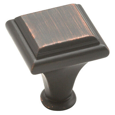 Lot of 25 Amerock Square Manor BP26131-ORB Oil Rubbed Bronze Cabinet Knobs
