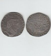 François II au nom d' Henri II (1559-1560) Teston  argent 1560 Toulouse