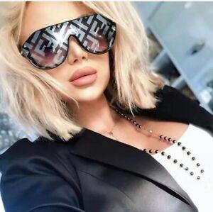 NEW-Fendi-FF-M0039-807XR-Fabulous-Sunglasses-Black-Silver-Unisex-100-UV