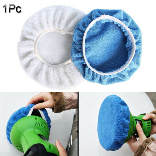 "1Pc Microfiber Car Polishing Waxing Polisher Bonnet Buffing Pad Cover 5-10/"" ~"