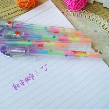 Gradient 6 Colors in 1 Pen Gel Pens for Office Students Ink Pen Chalk Pen x 2