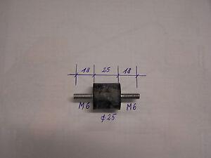 Tampon-Amortisseur-de-vibrations-en-caoutchouc-d-25-M6-L-18-25-18