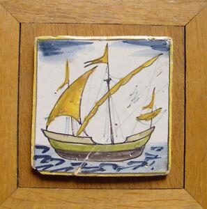 Shop For Cheap Mediterranean Delft Tile Ship 18th/19th C Polychrome Antiques
