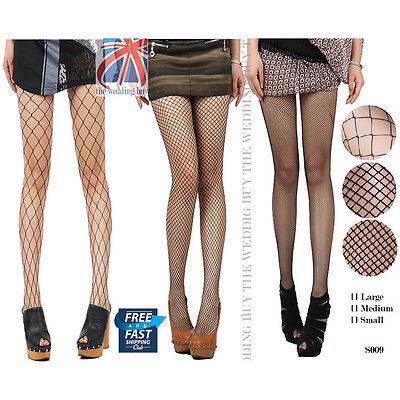 Nude Black Women Lady Fishnet Net Pattern Burlesque Hoise Pantyhose Tights S009