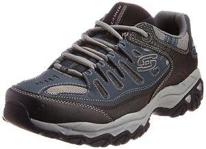 Memory 10 scuro con 4e blu foam New 885125763043 Us Sneaker Men's Skechers lacci Afterburn 1FAxAg