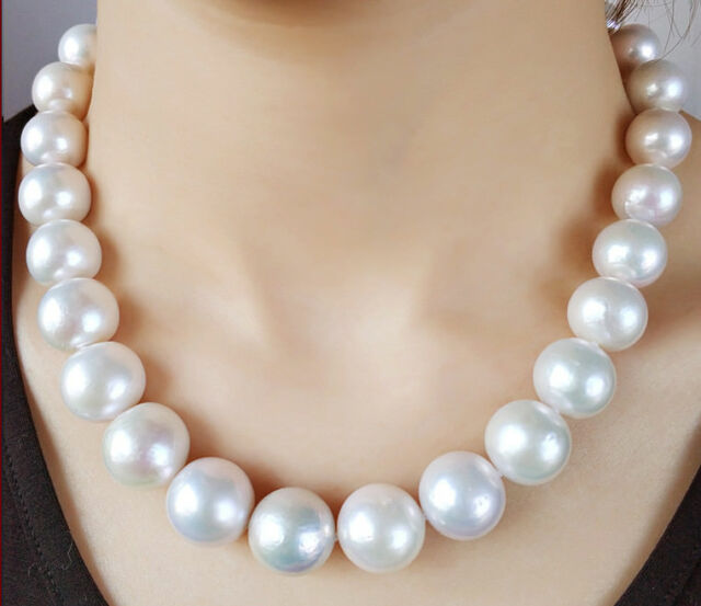 50 INCH AAA 8-9MM South Sea Gray Pearl Necklace 14k GOLD CLASP