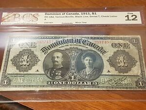 1911-Dominion-of-Canada-1-Large-DC-18d-Serial-233745-T-Series-Graded-BCS-F12