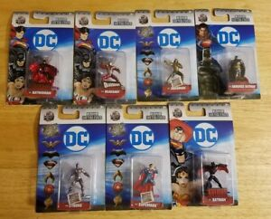 DC-Nano-Metalfigs-100-Die-Cast-Metal-1-5-034-NEW-COLLECTABLE-FIGURES-LOT-OF-7