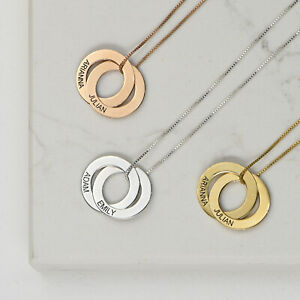 Details About Engraved 2 Russian Ring Necklace For Valentine S Day Personalized Gift For Her