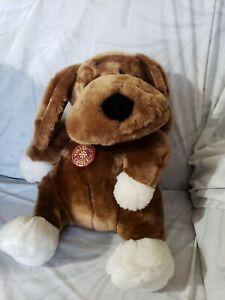 DAN-DEE-COLLECTORS-CHOICE-PLUSH-Brown-White-PUPPY-DOG-15-034-Stuffed-Animal