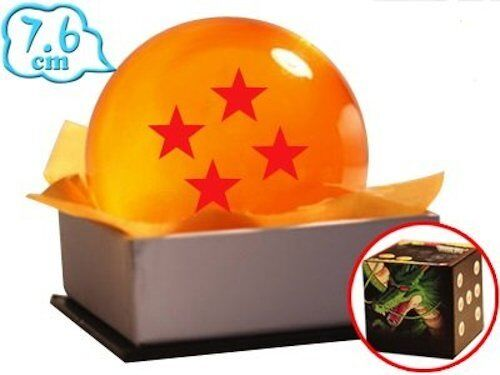Dragon Ball Sfera del drago 4 Stelle 7,6 Cm GIGANTE DragonBall Z star crystal