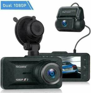 TOGUARD Both 1080P Dual Dash Cam Car Backup Camera Rear View Video DVR Recorder