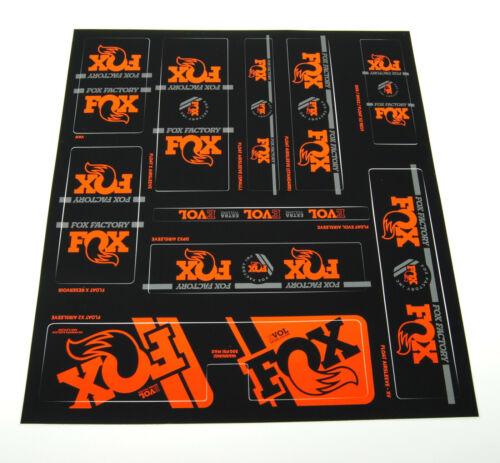 40 // Fork Shock 36 2020 Fox Racing Shox Heritage Decal Kit // 32 34