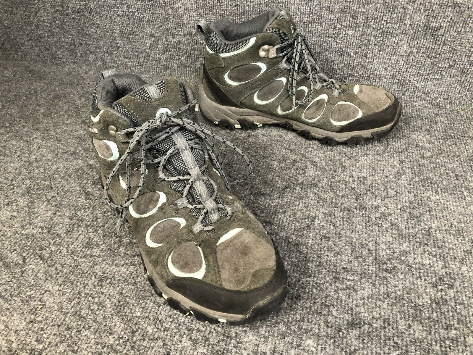 Merrell Womens 9.5 Ridgepass Mid Granite Eggshell bluee Waterproof Hiking Boots
