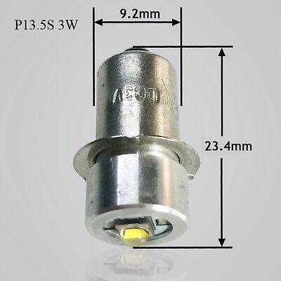 3W P13.5S Led Flashlight Replacement bulb Lantern Work Light 3V/12V/24V