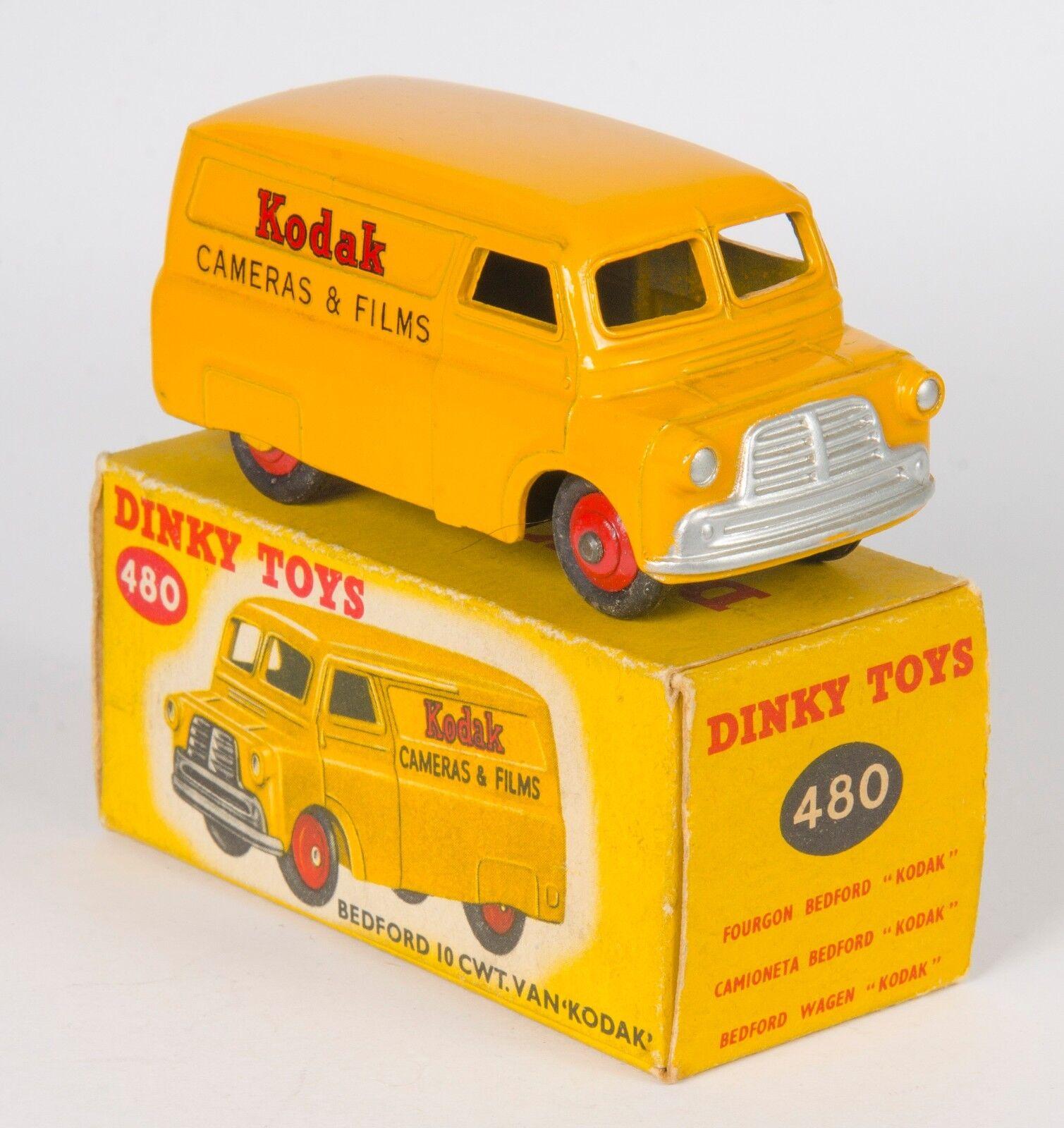Dinky 480 Bedford 10 CWT VAN de cámaras y películas. Kodak. vnmintCaja. década De 1950
