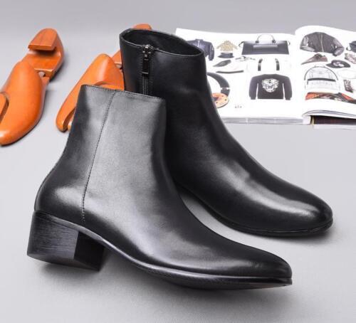 in punta pelle Stivaletti caviglia Mens con alta Chelsea zip in a laterali alla Vogue awA4qzWxwP