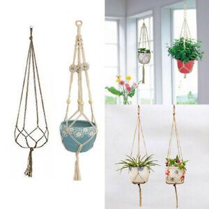 Macrame-Rope-Plant-Hanger-Basket-Flower-Pot-Hanging-Holder-Hanger-Garden-Decors