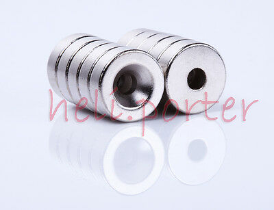 15mm x 5mm:4mm Hole Cylinder Earth Neodymium Super strong Magnet N35 Craft Model