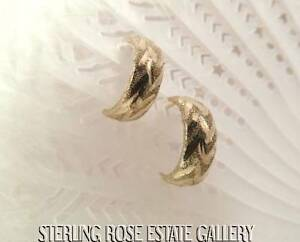 5-8-034-ROUND-DIAMOND-CUT-10K-YELLOW-GOLD-HUGGIE-HOOP-POST-EARRINGS-FREE-SHIPPING