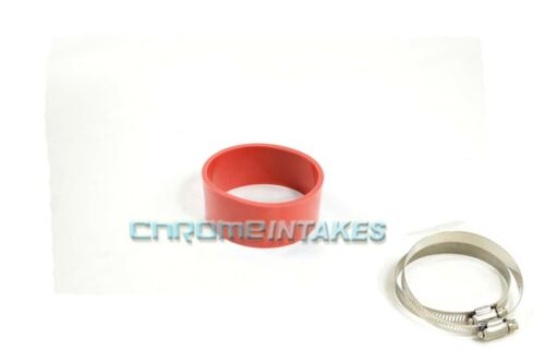 """RED 4/""""-4/"""" AIR INTAKE//PIPING RUBBER COUPLER FOR CHEVY 99-11"""