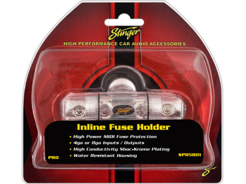Stinger Inline Power Wire 4 8 Gauge AWG MIDI Fuse Holder w// 2 x 175 Amp Fuses