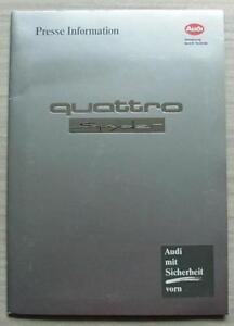 AUDI-QUATTRO-SPYDER-Car-Press-Kit-Information-Media-Pack-Photos-Sept-1991