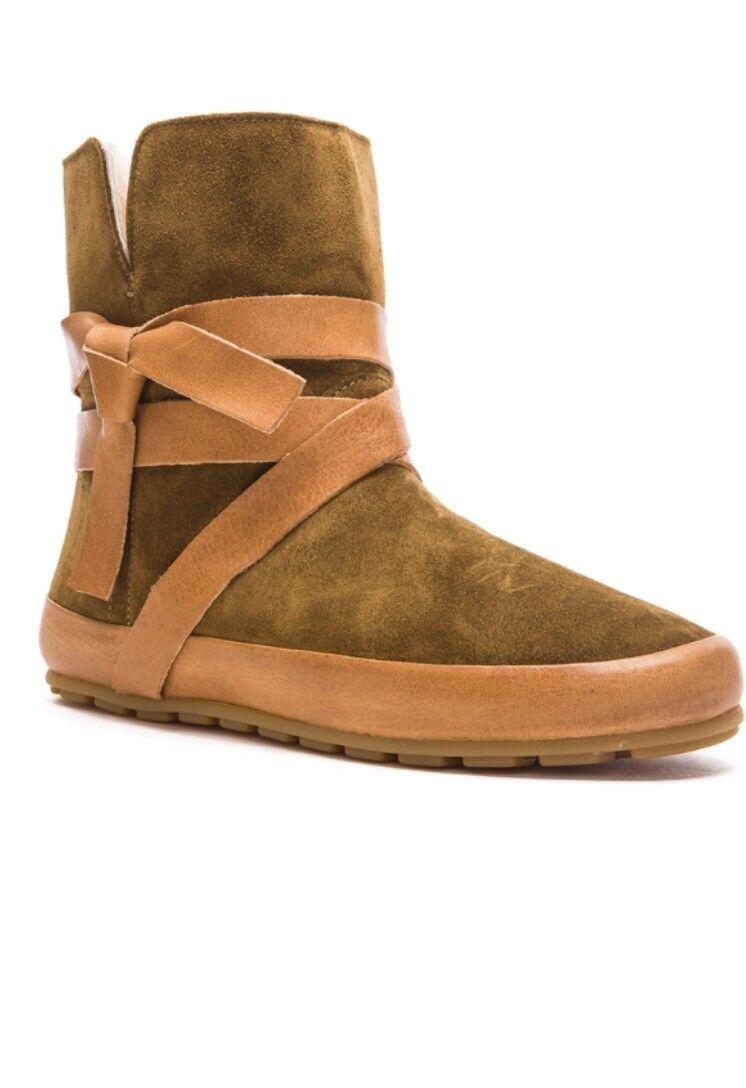 Invierno Invierno Invierno botas de baile Isabel Marant Nygel de piel de becerro Shearling UK4 EU 37  en promociones de estadios