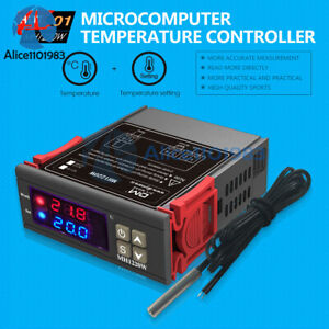 MH1220W 10A Digital Temperature Controller Thermostat  w//Sensor AC 110-220V