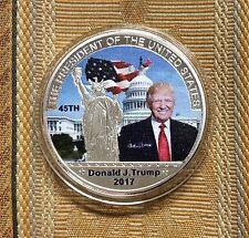 LOT 2-U.S.A,USA,DONALD TRUMP US PRESIDENT COMMEMORATIVE SP COIN.UNCIRCULATED.
