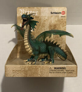 """Ritter Knights Drache Green 5"""" Tall Dragon Schleich Germany 70033 Retired"""