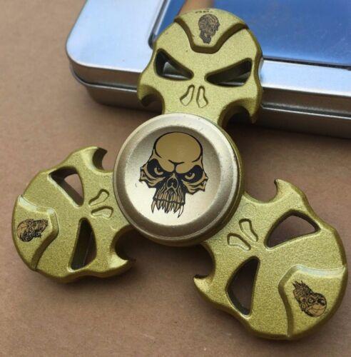 TESCHIO Metallo Sinc Triplo Dito Mano Spinner Fidget Filatura giocattolo CUSCINETTO IN ACCIAIO