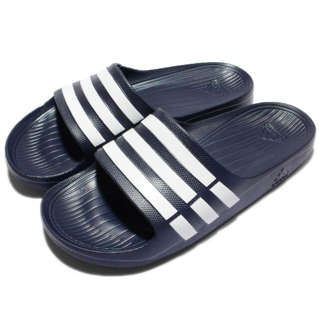 adidas Duramo Slide Navy White Mens Womens Sports Slide Slippers Sandals  G15892 6b19457809
