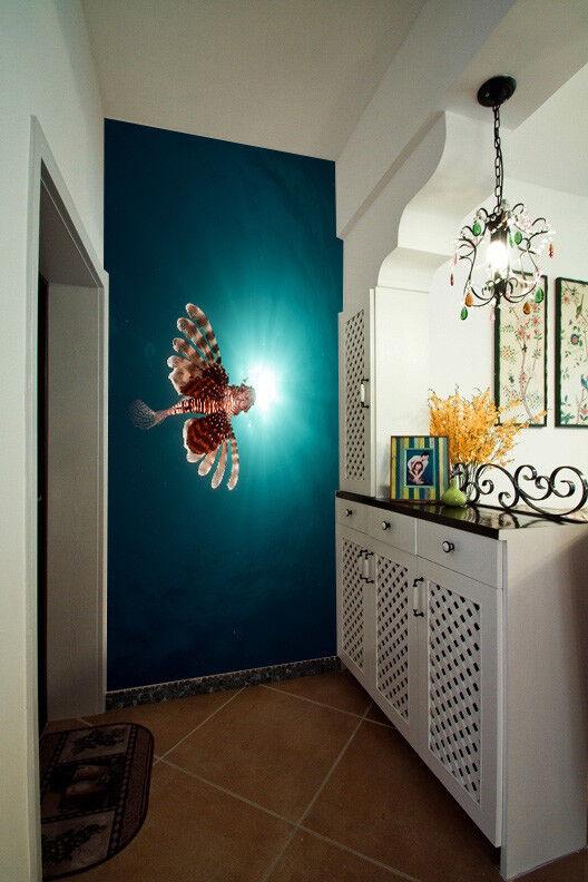 3D bluee Sea Fish 864 Wallpaper Mural Paper Wall Print Wallpaper Murals UK Lemon
