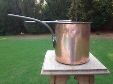 "Antique Dovetail Gaillard Hammered Copper 7.125"" Milk/Chocolate Pan Tin Lining"