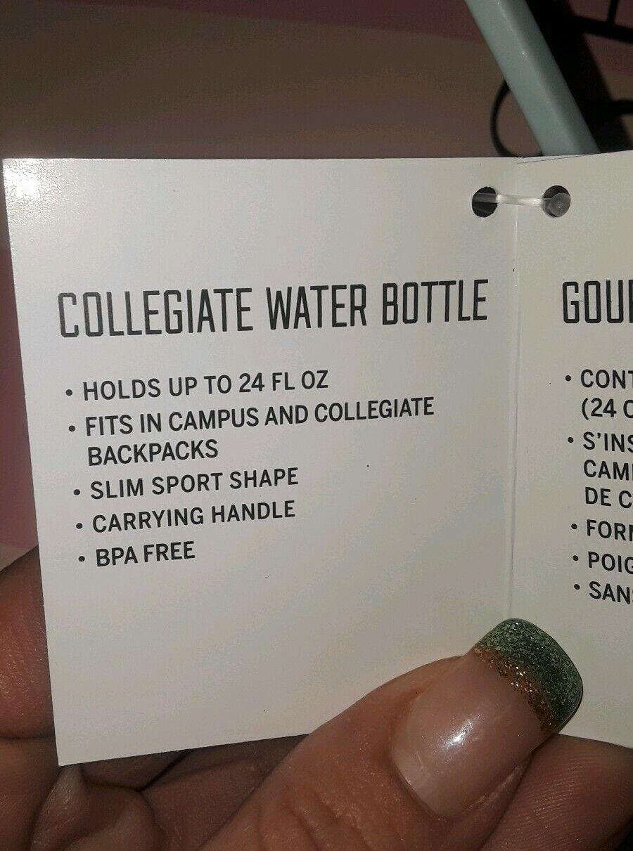 Vs pink collegiate water bottle brand new multi floral logo