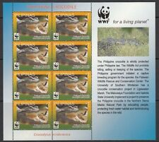 (RP11B) PHILIPPINES - WWF FOR NATURE M/S OF 8 STAMPS x4. CROCODILE