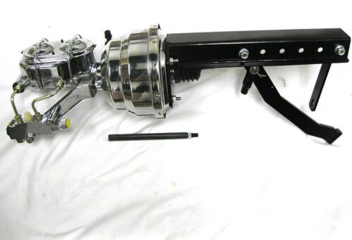 "Pedal Bracket Kit Disc Drum CHROME 8/"" Power Booster Bail Top Master Cylinder"