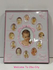 Baby 1st Year 12 Month Photo Frame Collage Birthday Christening Gift