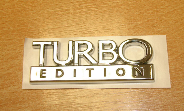 SAAB TURBO EDITION CHROME BADGE, GENUINE EMBLEM BRAND NEW