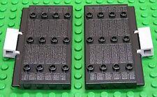 LEGO - 2 x Burgtür Tür 1x5x7 1/2 schwarz mit Scharniersteinen / 30223 NEUWARE