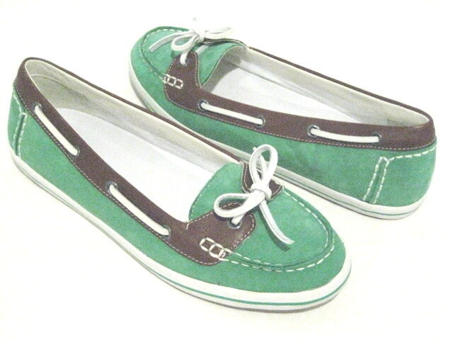 COLE HAAN AIR JAMIE SHOE BOAT SHOE JAMIE II GREEN HOUSE / SQUOIA D37235 WOMEN SIZE 9.5 B 585fb9