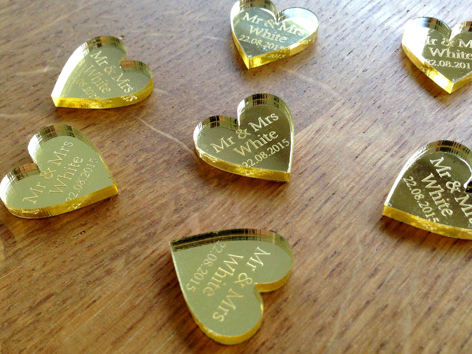 Personalised Gold 50th Wedding Anniversary Table Decorations Favours Scatters