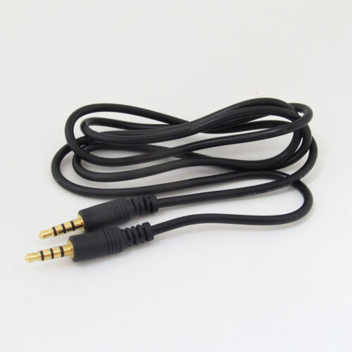 "100pcs 1M//3.3FT Gold 3.5mm 1//8/"" 4 Pole Stereo Male to Male Aux Audio Cord Cable"