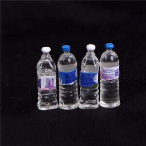 4x-Dollhouse-miniature-bouteille-d-039-eau-minerale-1-6-1-12-modele-d-039-echelle