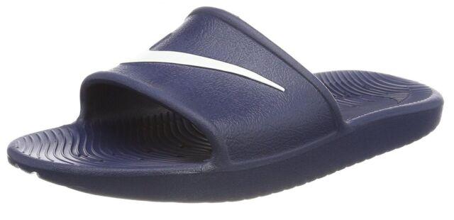 buy popular 9fc91 c88f1 Men's Nike Kawa Slides Flip Flops Sandals Pool Slippers Beach Fitness Shoes  Navy for sale